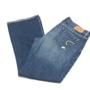American Eagle Outfitters Distressed Bootcut Jeans